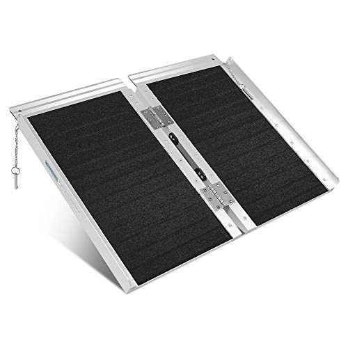 ORFORD Non Skid Wheelchair Ramp 3FT, 800 lbs Weight Capacity, Utility Mobility Access Threshold Ramp for Home, Steps, Stairs, Doorways, Scooter