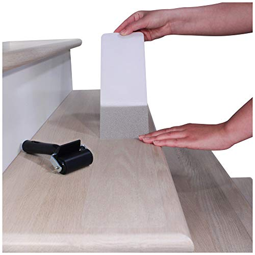 """32""""x4"""" Non-Slip Stair Treads Tape (15-Pack) - Clear Anti-Slip Indoor Strips"""
