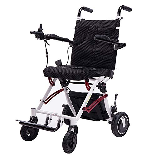 ELENKER 2020 Electric Wheelchair, Support Lightweight Foldable Power Mobility Aid Motorized Wheel Chair for Outdoor Home Travel, Weight Only 41LBS