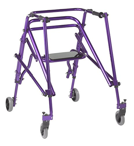 Inspired by Drive Nimbo 2G Lightweight Posterior Walker with Seat, Wizard Purple, Large
