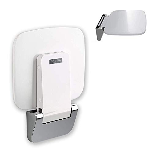 Stylish Folding Shower Seat Attachment - Durable, Foldable Luxury Bath Seats with Wall Mounted Chrome Brackets - Chairs For Showering For Adults, Elderly, and Seniors - Holds Up to 350 Lbs